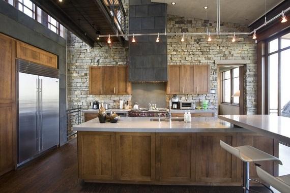 Камень на кухне фото